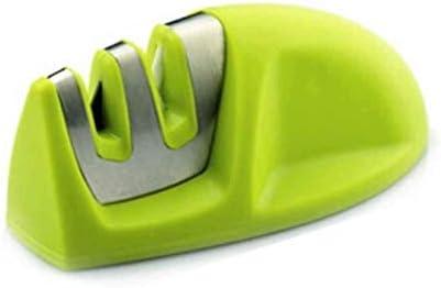 LPVLUX - 普通包丁やのこぎり刃包丁のための高品質包丁研ぎ器、2段階のダイアモンドコーティングシャープニングホイールシステム (グリーン)
