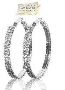 crystal hoop earrings - 9