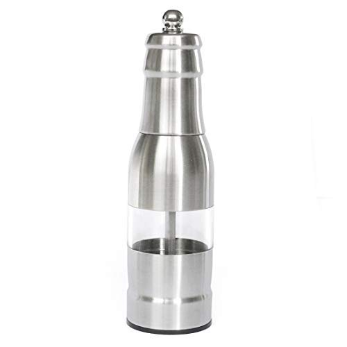 304 Stainless Steel Pepper Mill Manual Adjustable Grinder Silver - Pepper Mill