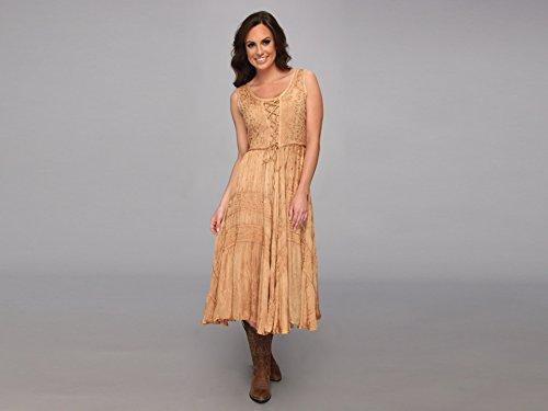 - Scully Women's Lace-Up Jacquard Dress Beige/Khaki X-Small