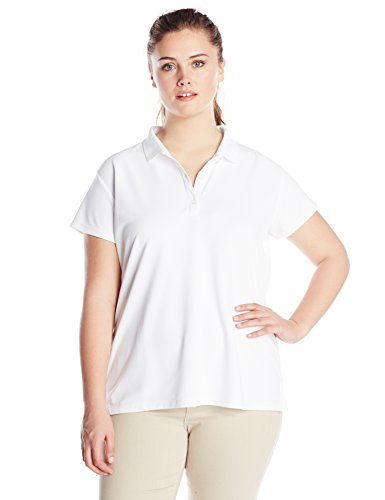 Columbia Women's Plus-Size Innisfree Short Sleeve Polo Shirt, White, 1X