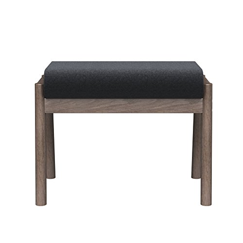 LANKER Wood Step Stool, Vanity Bench Oak, Upholstered for sale  Delivered anywhere in USA