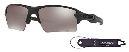 Oakley Flak 2.0 XL OO9188 918868 59M Matte Black/Black Prizm Polarized Sunglasses For Men+BUNDLE with Oakley Accessory Leash ()