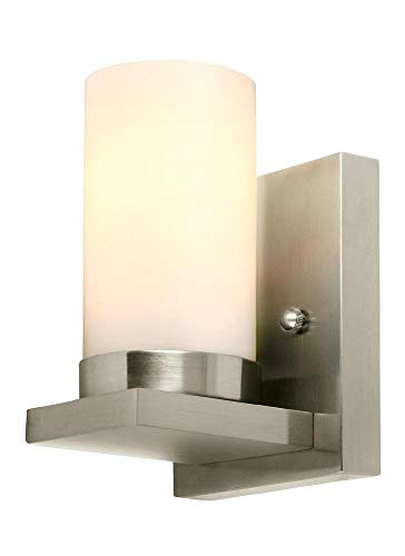 (Sea Gull Lighting 41585EN3-962 Ellington Wall Sconce, 1-Light LED 9.5 Watts, Brushed Nickel)