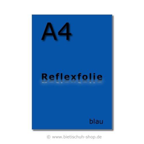 Orafol Reflexfolie A4, blau, reflektierend, selbstklebend