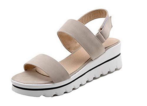 Sandales Shimmer Pure Talons Moyens Woman Agoolar Gmmlb010753 Apricot À Velcro xq5PwR50U