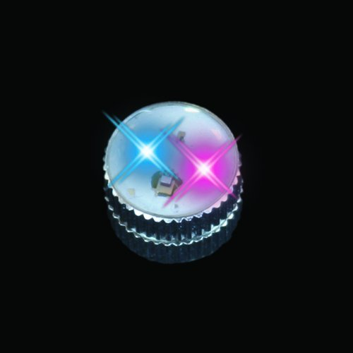 Blue / Pink Flashing Blinking Light Up Body Lights Pins (5-Pack)