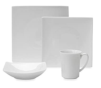 Amazon.com: Fitz and Floyd Nevaeh Hard Square Dinnerware Collection ...