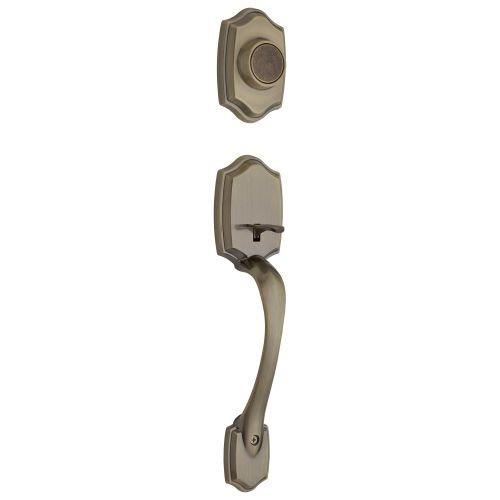 Kwikset 699BW LIP 5 699BW-LIP Belleview Dummy Sectional Handleset, Exterior Only, Antique Brass