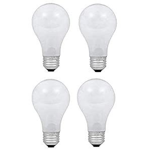 Dysmio Lighting 100 Watt A19 Rough Service Incandescent Light Bulb Pack of 4 1