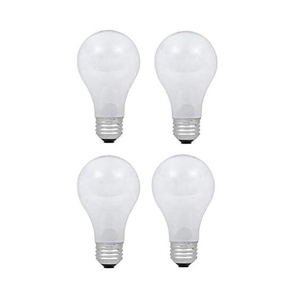 Dysmio Lighting 100 Watt A19 Rough Service Incandescent Light Bulb Pack of 4 1