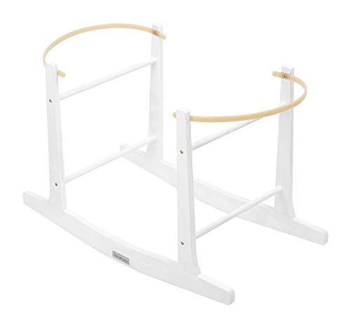 Clair de Lune Standard Rocking Moses Basket Stand - White