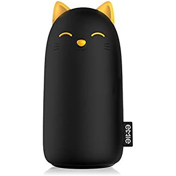 EMIE Kitten 10000mAh Portable Charger ,5V 2.1A Cartoon Cute Cat Fast Charging Power Bank USB Battery Pack External Battery for iPhone 7 Plus 6 6S Plus 5S Samsung iPad and more