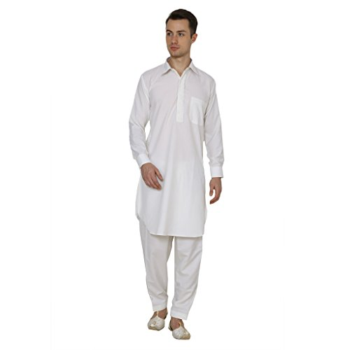 Royal Kurta Men's Polycotton Embroidered Pathani Suit