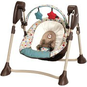 Graco - Swing By Me Portable 2-in-1 Swing, Twister by Graco
