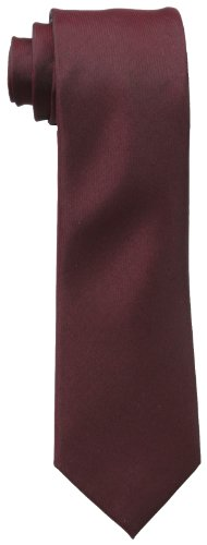(Kenneth Cole REACTION Men's Solid Tie, Burgundy, One Size )
