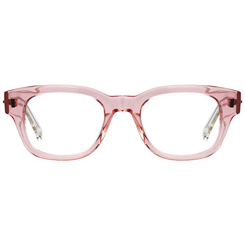 Zeelool Transparent Pink Rectangle Glasses Frame with Clear Lens Adelaide FA0706-01
