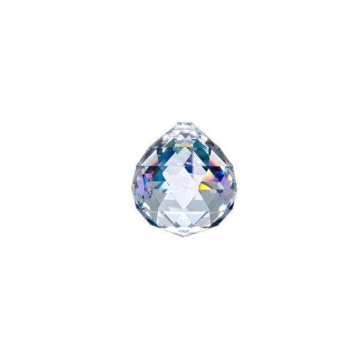 Asfour Crystal 701 Clear Crystal Ball Prism, 20 mm, 1 Hole , Box of 260 Pieces by Asfour