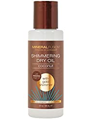 Mineral Fusion Body Oil Shimmer, Macadamia Nut, Gold, 3 Ounce