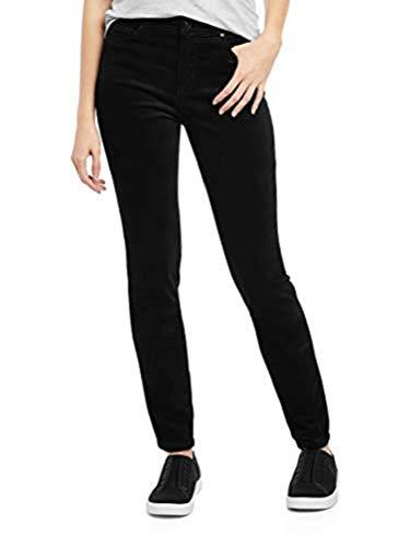 EV1 from Ellen DeGeneres Women's Preston High Rise Stretch Velvet Jean Pants (Black) (12 (32W x 29L)) (Ellen Degeneres Best Videos)