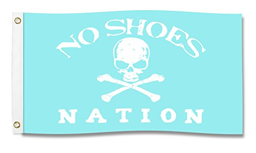 Nautical Products NO SHOES NATION Flag (Black w/White Text)