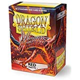 Dragon Shield Matte Red Standard Size 100 ct Card Sleeves Display Box - 10 packs