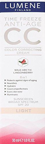 Lumene Finland Time Freeze Anti-Age CC Color Correcting Cream LIGHT (Pack of 2)