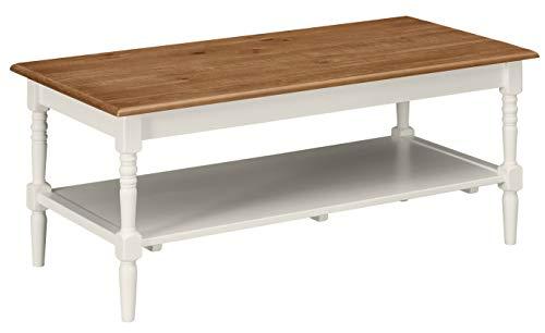 Ravenna Home Amber Rustic Farmhouse Shelf Coffee Table, 44
