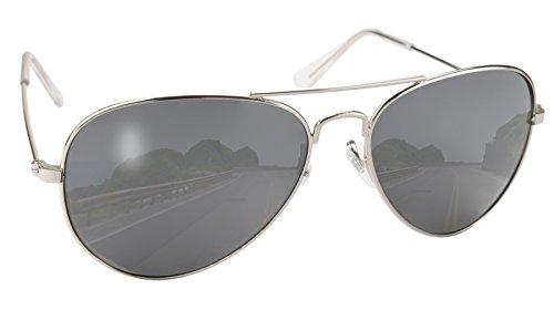 Coast Aviator Pacific Sunglasses (Pacific Coast Aviator Sunglasses (Silver Frame/Smoke Lens))