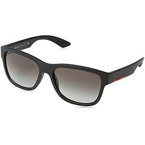 Prada Linea Rossa Men's 0PS 03QS Black Rubber/Grey Gradient
