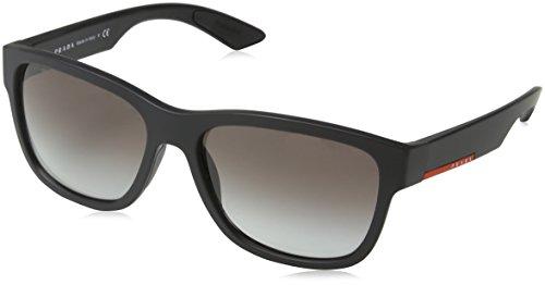 Prada Linea Rossa Lunettes de soleil 03Q Black Rubber / Grey Gradient Black Rubber