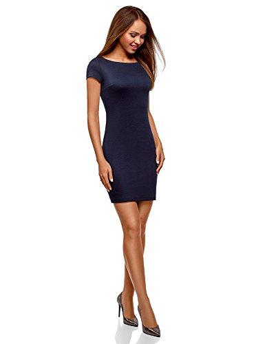 Femme Ultra oodji Bateau Maille Bleu Robe Col 7900n O4wwdq5