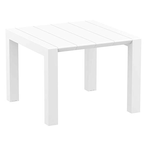 Compamia Vegas Wicker Dining Table in White (Wicker Patio Furniture Las Vegas)