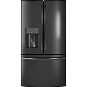 GE Profile PYD22KBLTS 36 Inch Counter Depth French Door Refrigerator with 22.2 cu. ft. Total Capacity in Black Stainless Steel