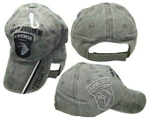 JumpingLight 101st Airborne Screaming Eagles Olive Stone Shadow Embroidered Cap Hat (Cotton) for Home, Official Party, All Weather Indoors Outdoors ()