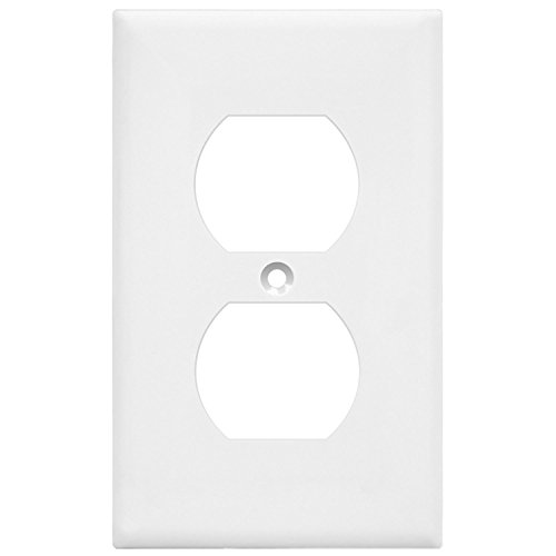 ENERLITES Duplex Receptacle Outlet Wall Plate, Size 1-Gang 4.50'' x 2.76'', Polycarbonate Thermoplastic, 8821-W-10PCS, White (10 Pack) by ENERLITES (Image #8)