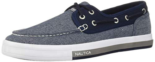 - Nautica Men's Spinnaker Boat Shoe, Blue Knit/Navy, 10 Medium US