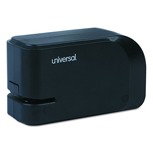 Universal Electric Half-Strip Stapler with Staple Channel Release, 20-Sheet Capacity, Black (43120) Plastic Half Strip