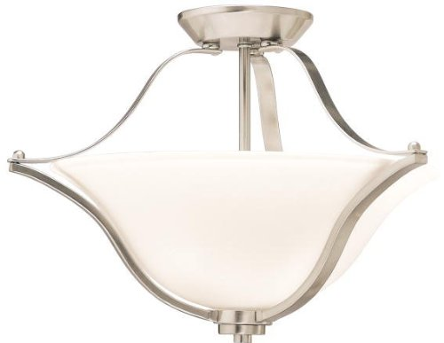 Kichler 3681NI Langford Pendant/Semi-Flush 2-Light, Brushed Nickel