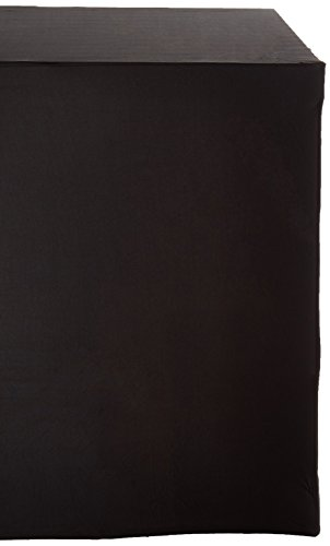 LinenTablecloth 4 ft. Rectangular Stretch Tablecloth Black