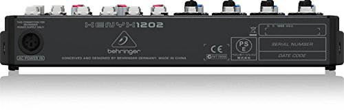 Behringer XENYX 1202 2-Bus Mixer with Mic Preamps, 3-Band EQ Bundle with Blucoil 10-Ft Balanced XLR Cable and 5 Pack of Cable Ties by blucoil (Image #4)