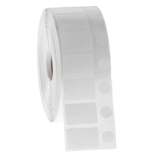 """NitroTAG JTT-70C1-2WH Cryogenic Barcode Labels, 1.125 x 0.75'' + 0.437"""", 2000 Labels on 1"""""""
