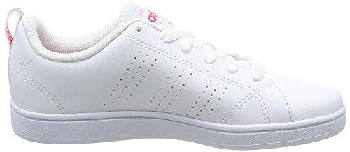adidas Vs Advantage CL K, Zapatillas de Deporte Unisex Niños Blanco (Ftwbla/Ftwbla/Supros)