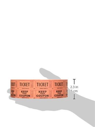 Indiana Ticket Company 56759 Raffle Tickets, (4 Rolls of 2000 Double  Tickets) 8, 000 Total 50/50 Raffle Tickets, Assorted