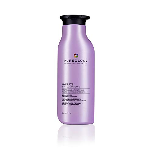 Pureology Hydrate Shampoo   For Dry, Color-Treated Hair   Hydrates & Strengthens Hair   Sulfate-Free   Vegan