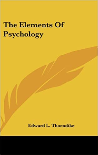 Pdf elements of psychology