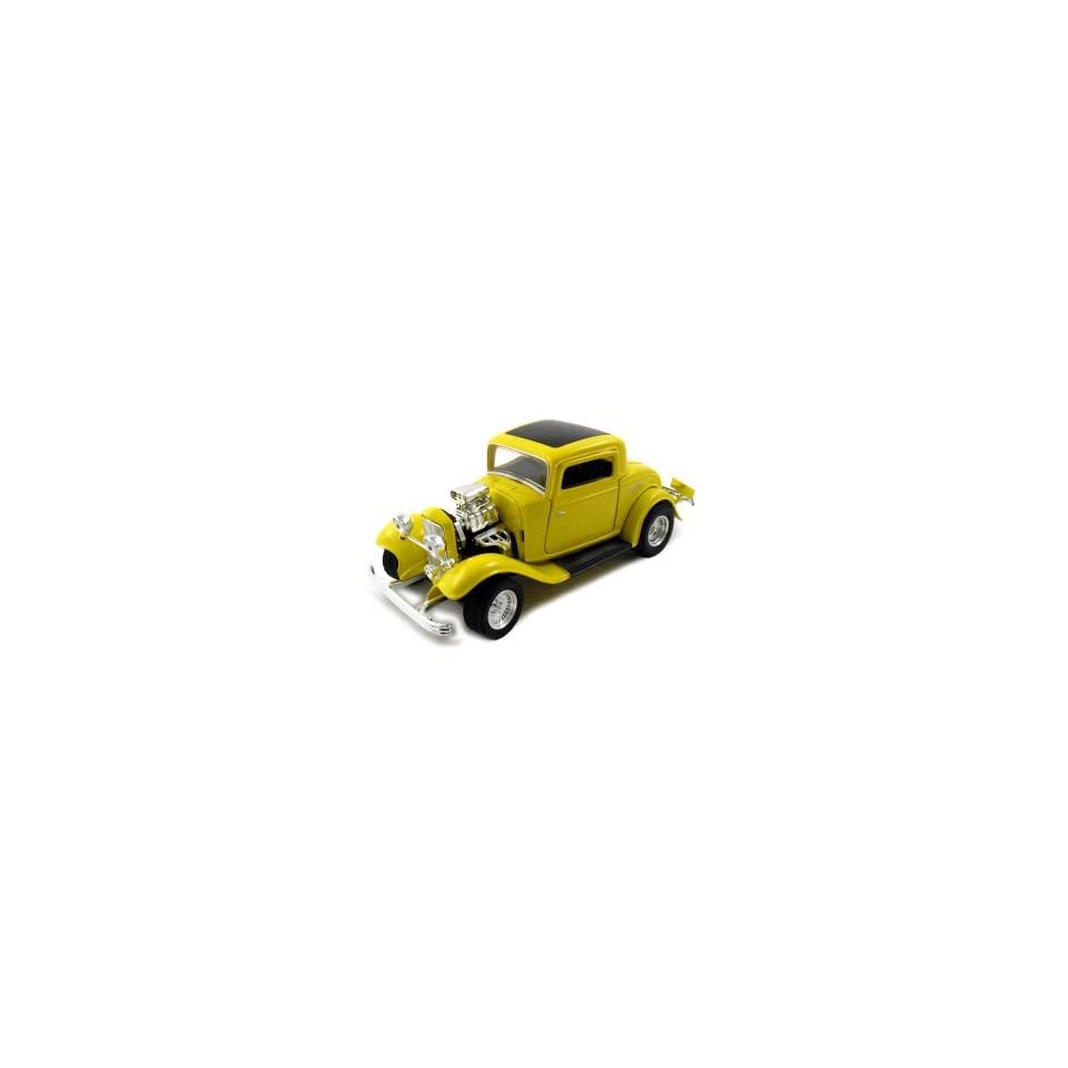 1932 Ford Coupe American Graffiti Diecast Car Model 1/24 Yellow