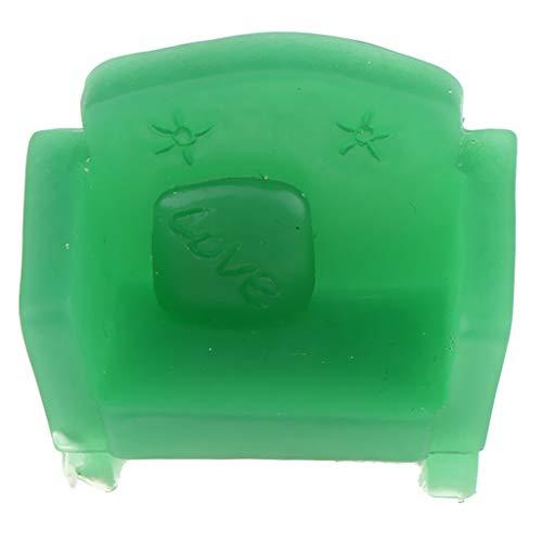(NATFUR Mini Cute Resin Sofa Model Toy for 12th Dollhouse Furniture Accessory Green)