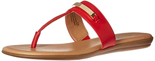 Aerosoles - Women's On The Chlock Flip-Flop - Casual Open Toed Sandal with Memory Foam Footbed (10M - Red)
