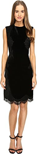 Alberta Ferretti Women's Sleeveless Lace Trim Dress, Black, (Alberta Ferretti Sleeveless)